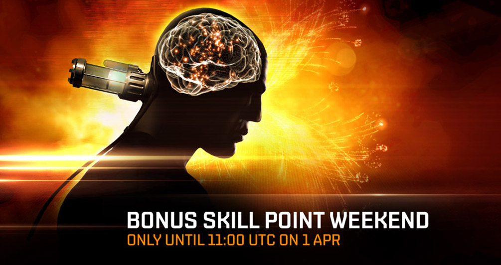 Bonus skillpoint weekend begins this Friday!