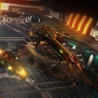 Admire your hard earned ships in the new station hangar